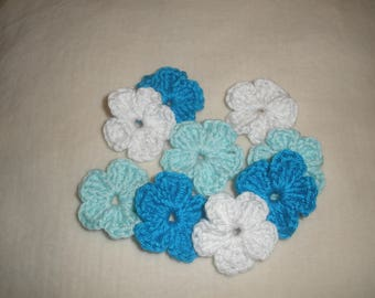 Crochet flowers applique