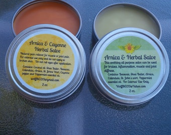 Arnica and Cayenne Herbal Salve, Herbal Salve