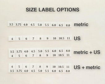 Size labels for Needle Cases