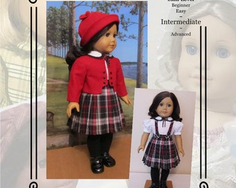 """PDF Pattern KDD-22 """"Train Station""""- An Original KeepersDollyDuds Design, 18"""" Doll Clothes"""