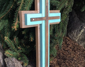 Rustic Wood Cross, Rustic Cross Decor, Wood Cross, Wooden Cross, Christian wall Decor, Wood Wall Cross, Wooden Wall Cross, Christian