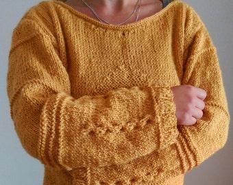 Knit sweater, Handmade sweater, Handknit, Knitted warm womens sweaters, Knitted, handmade, knitwear