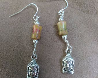 Yellow Buddha Earrings