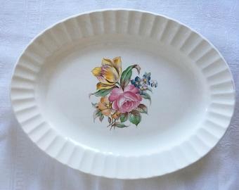 Edwin M. Knowles Floral Platter