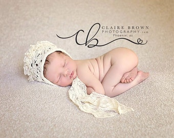 cod 222Photo prop baby hat, lace baby hat, baby bonnet, baby photography, accessories, clothing, baby girl hat