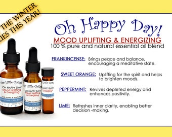 Oh Happy Day Essential Oil Blend, Anti Winter Blues Essential Oil Blend, Essential Oil Blend, Citrus Oil Blend, Oil Blend, Aromatherapy