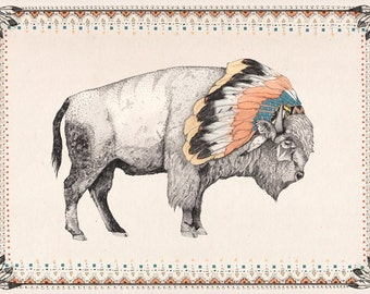 White Bison // Signed A3 print