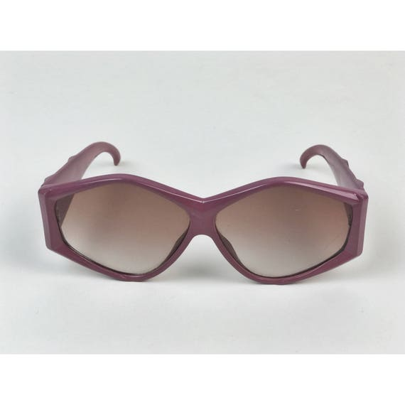 80's Dusty Pink Plastic Frame Retro Sunglasses - Wide Frame Statement Vtg Glasses Accessories - Pink Vintage Sunnies Eighties Bold Accessory