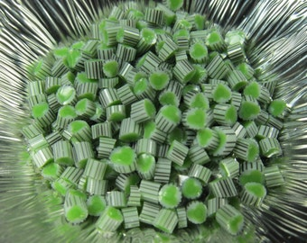 Green sweetheart murrini CoE 104 glass 20 pcs