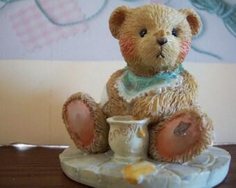 Two Cherished Teddies, BENJI, Life is Sweet Enjoy, 1991, Plus free Cherished Teddy by Nanas Vintage Shop on Etsy