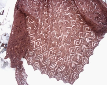 Elegant Beaded Lacework Shawl for Evening or Formal Wear