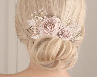 flower hair piece, Flower hair clip, wedding hair accessories, wedding headpiece, pearl hair clip, flower headpiece, bridal hair clip