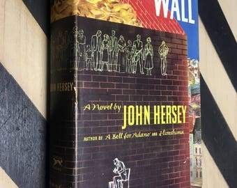 The Wall: A Novel by John Hersey (Hardcover, 1950) vintage book