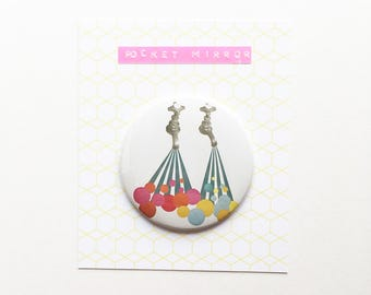 Pocket Mirror 76mm / 3 inches, Pop Art Mirror - Soapsuds