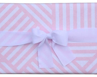 Luxury Geometric ZigZag Pink and White Gift Wrap (Set of 2 Rolls)