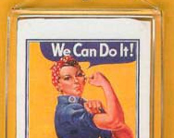 Classic Rosie the Riveter Keychain