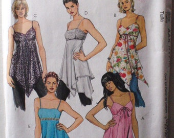 Women's Lined Summer Tops and Tunics - McCall's 5004 - Sizes 4-6-8-10, Bust 29 1/2 - 32 1/2