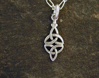 Sterling Silver Celtic Eternal Love Pendant on a Sterling Silver Chain