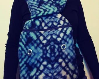 Blue bonding scarf