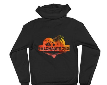 Aloha Strong Hawaii Zip up Hoodie sweater