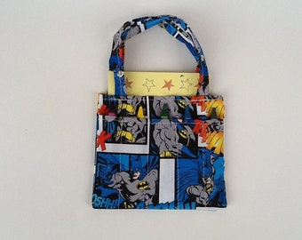 Batman Super Hero Children's Crayon Bag and Customized Paper