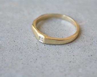 14k gold diamond ring,14k gold engagement ring, tiny diamond engagement ring, dainty diamond ring, thin diamond ring, stackable diamond ring