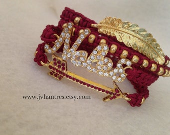 FSU/Nole Stack /Gold/Rhinestone/Feather/Spear/Noles/Stackable - QTY 4