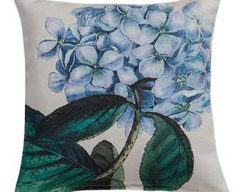Blue Hydrangea Sachet filled with Lavender 6x6