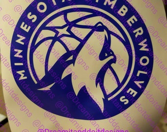 Minnesota Timberwolves car decal