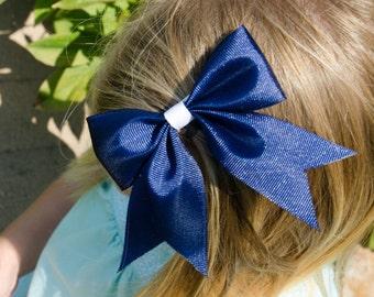 Hair Bow - Traditional Navy Grosgrain Hairbow
