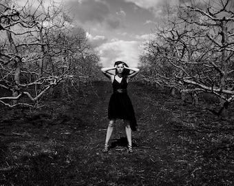 The Orchard - Black & White, Digital Photographic Print, Fine Art Photography, Wall Art, Home Decor