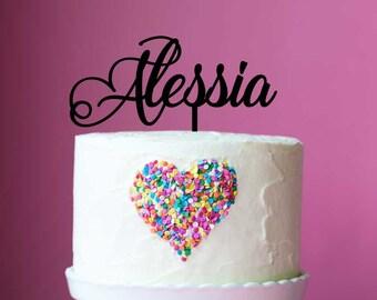 Acrylic Cake Topper - Script Name (ARC1630) MADE IN Australia