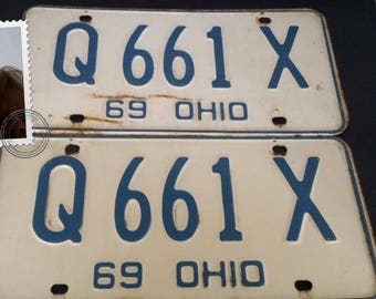 1969 Ohio license plate