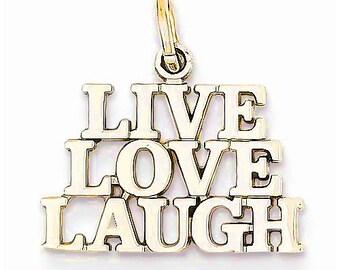 Live Love Laugh Charm (D1092)