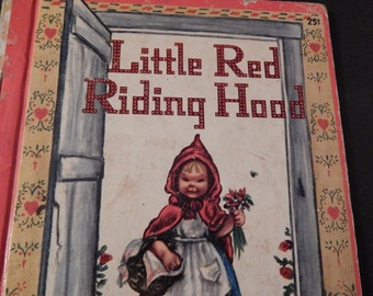 Vintage 1948 . Early Little Red Riding Hood Golden Book