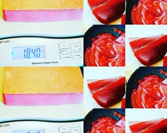 Pink Guava and Ruby Red Grapefruit Artisan Organic Raw Mango Butter seed based handmade soaps Pink Soaps Vegan Soaps Aromatherapy soaps