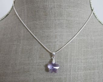 "Pendant ""Purple flower"""