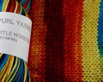 Rain Boots - Hand-dyed self striping worsted yarn