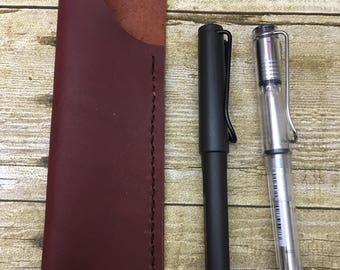Black Cherry - Jot Pen Sleeve - Leather