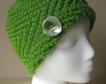 Knitted Chemo Hat - 'Ava' Hand Knit Cotton Hat