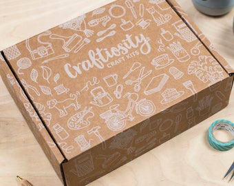 Craft Kit Subscription - 1 Month Learn new crafts | Tools, Materials & Instructions | Craftiosity