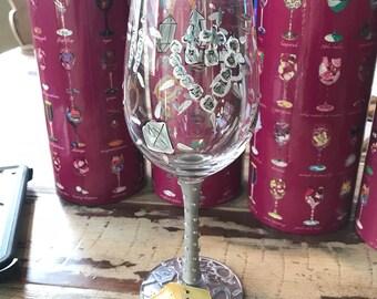 "Lolita 15 ounce wine glass ""Girl's Best Friend""."