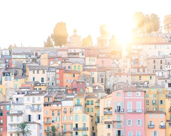 France Travel Photography, Menton, France, French Riviera, French Home Decor, Fine Art  Photograph, Large Wall Art