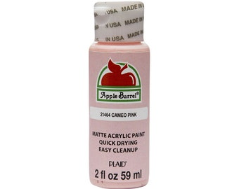 Apple Barrel Acrylic Paint - 2 oz - Cameo Pink