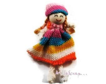 X 1 embellishment scrapbooking cardmaking 10 wool doll. *