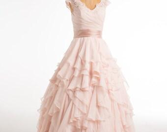 Romantic Ruffle Dress- size 6