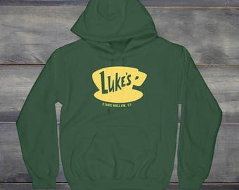Luke's Diner Hoodie, Gilmore Girls Hoodie, Stars Hollow Connecticut, Gilmore Girls Fan, Lorelai, Rory, Luke's Diner Coffee, TV Show