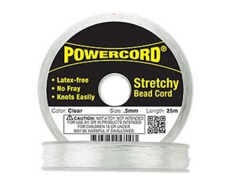 Powecord Clear Stretch Beading Cord .5mm