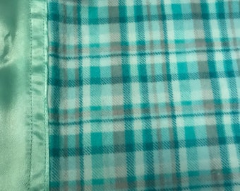 Plaid silkie baby blanket