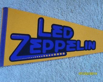 Led Zeppelin, Music Collectible, Felt Pennant, Led Zeppelin Pennant, Flag, Rock and Roll, Music Collectible